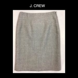♥️J. CREW Size 2 Gray Wool ✏️ Skirt♥️